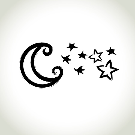 brushwork: Brushwork Symbol  Moon and Star