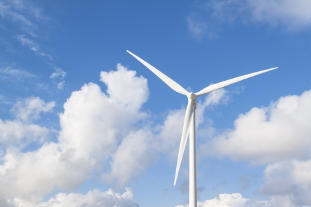 vestas: Photo of Wind power installation in sunny day Stock Photo