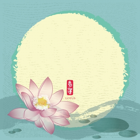 Chinese Traditional Painting: Lotus Vector