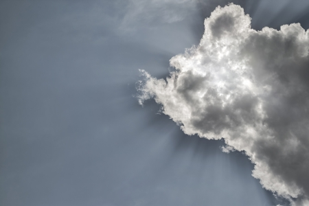behind scenes: the clouds of ash obscured the sun Stock Photo