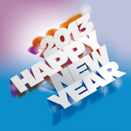2013  Paper Folding with Letter, Happy New Year Vector