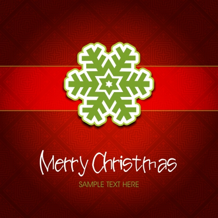 Classical style christmas background  Snowflake  card  Stock Vector - 16261269