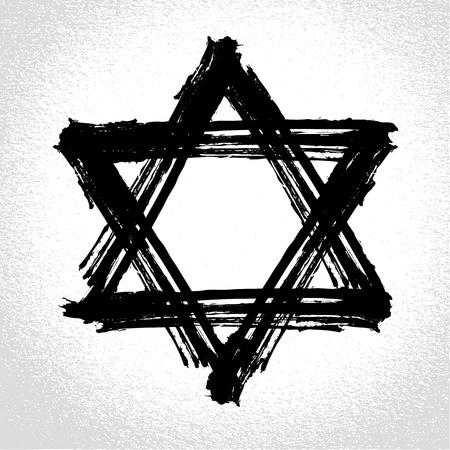 etoile juive: David pinceau �toile par style grunge