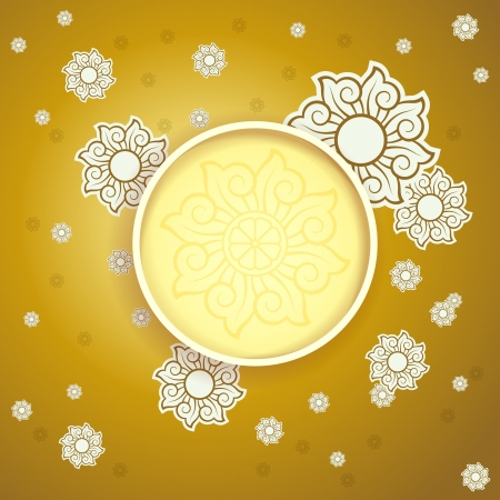 oriental season:  New Year Card Background with Space for Your Text or Image