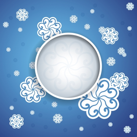 Merry Christmas and New Year Card Background with Space for Your Text or Image Stock Vector - 17456169