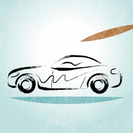 brush modern: Car Silhouette