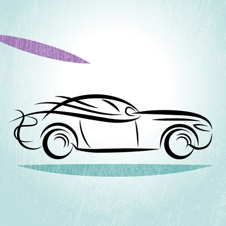 Car Silhouette Stock Vector - 18383538