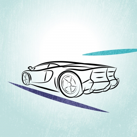 Sports Car Outline Stock Illustrations Cliparts And Royalty