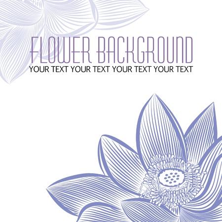 fermer moderne fleur abstraite fond blanc, avec un espace pour le texte du titre Illustration