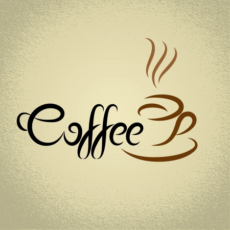 Coffee sign  with the title  ideal for cafe menu Vector