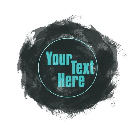 Coup de pinceau texture de cercle avec espace pour votre texte ou des boutons eps10