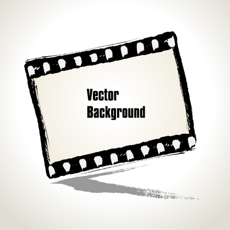 Vector  Aged  illustration of a grunge filmstrip frame with space for your text or image Stock Vector - 18752884