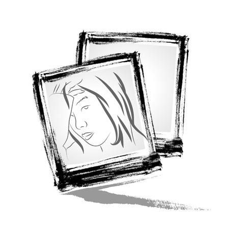 brushwork: Vector   Photo frame with brushwork style