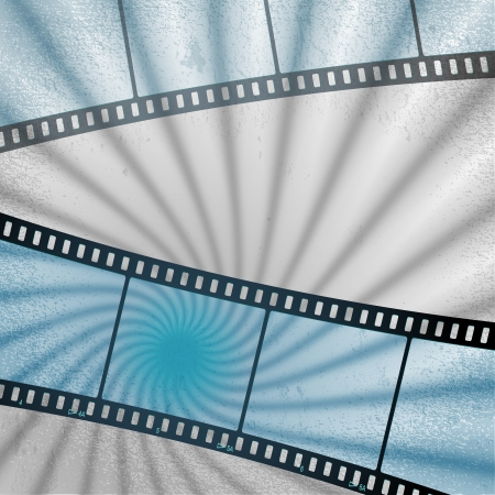 movies film blue light background with space for text or image Stock Vector - 18871638