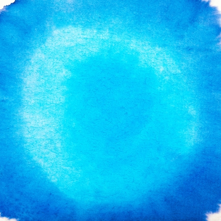 Blank Blue Abstract Watercolor Macro Texture Background Freehand Circle Drawing with Space for Your Image or Text Stock Photo - 20169149