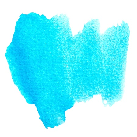 Abstract blue watercolor painted brushwork background with space for your texts or image  photo
