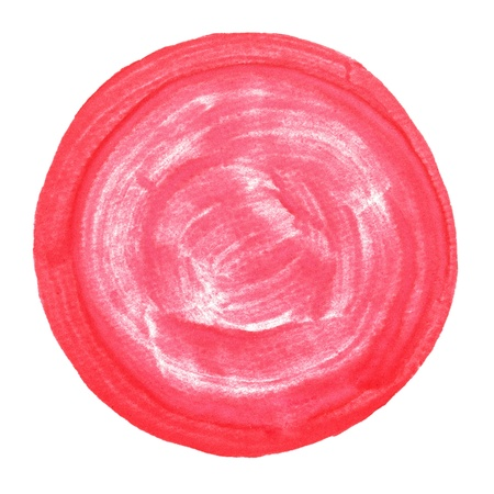 Abstract watercolor painted round dot background with clipping path. Stock Photo - 20169160