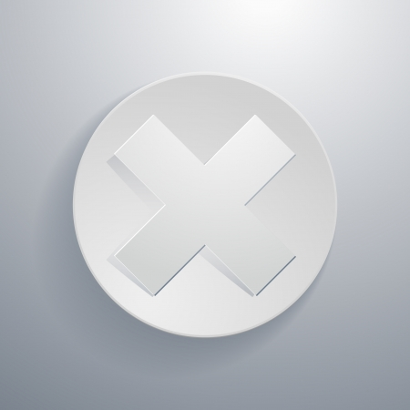 net bar: simple paper-cut style, circular icon, multiply or stop symbol