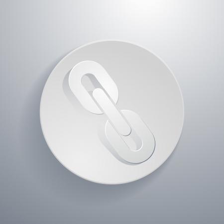 circular chain: simple paper-cut style, circular icon, chain