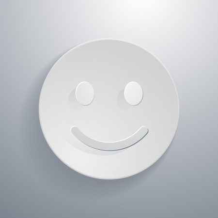 optimist:  simple paper-cut style, circular icon, smiley face symbol