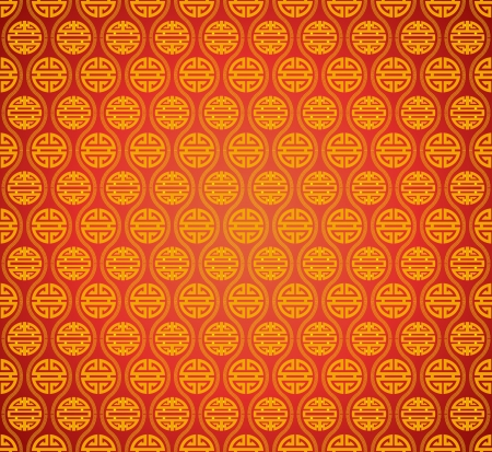 chinese symbol: Vector: abstract chinese classical style background with lucky symbols of wealth for  traditional festivals, seamless continuous patterns.