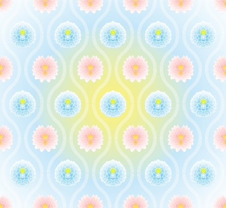 Vector: seamless pattern with chinese virtual po-phase flowers background Vector