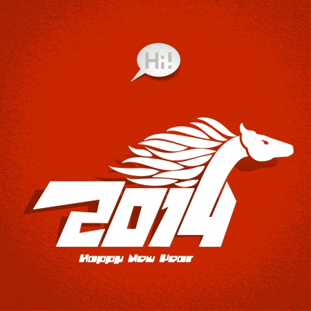 2014: New Years card, year of horse