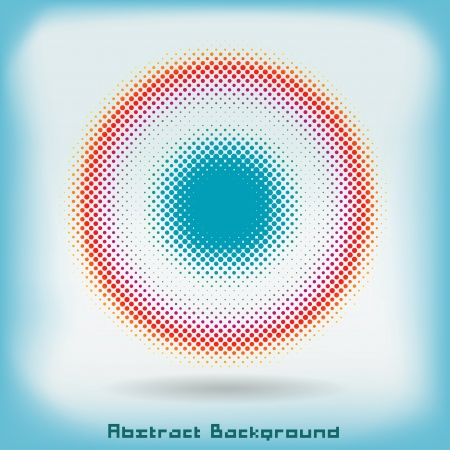 saturated color: Colorful Abstractt Halftone Circle Background