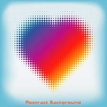 saturated color: Gradient Colorful Heart Halftone Abstract Background with Space for Your Text or Images