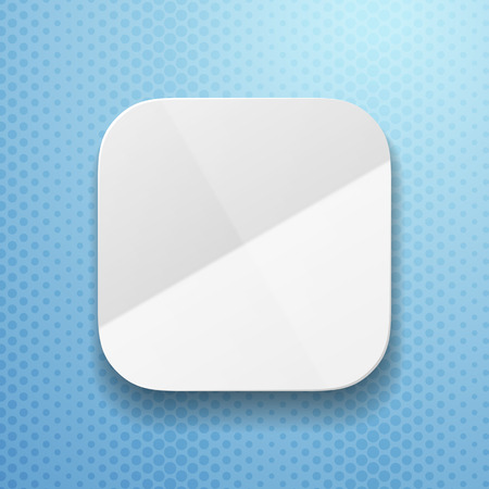 paper folding: blank app icon template with flatted  paper texture