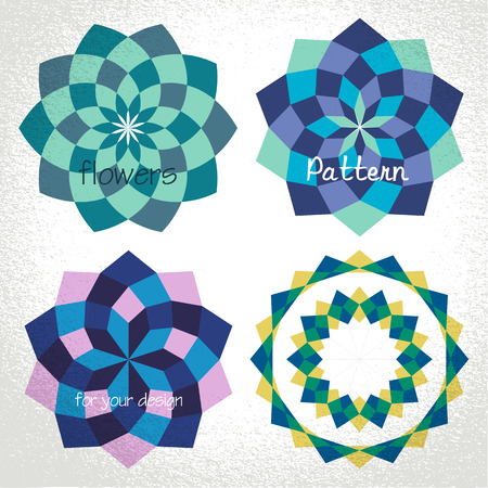 Vector: colorful checkered circle frame background Vector