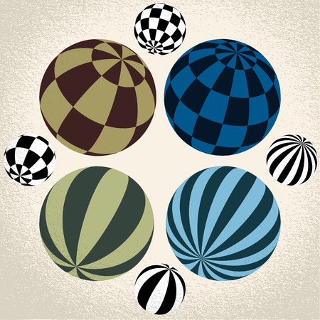 Vector:  abstract globe symbol, isolated round icon, business concept Vector