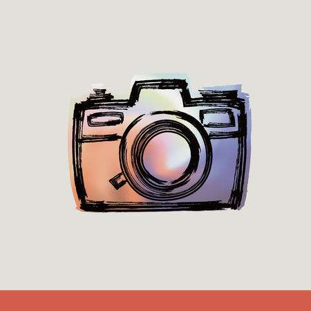 Rangefinder camera with Brushwork Vector