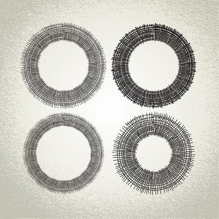 moody: hand drawn circles, design elements