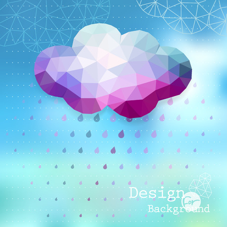 Vector  cloud and raining background Vector