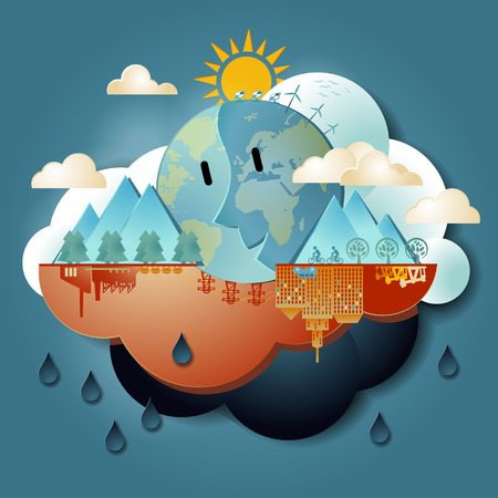 지구 온난화 일러스트