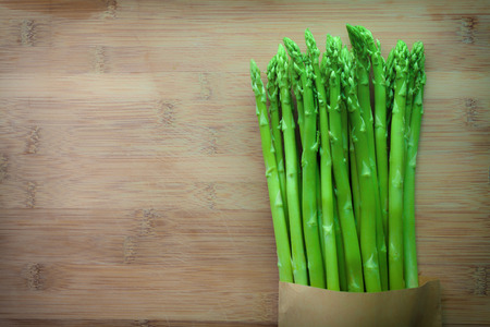 asparagus on wooden