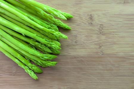 nutritiously: asparagus on wooden