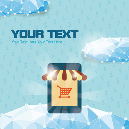 eshop: Online shopping eshop With Smartphone
