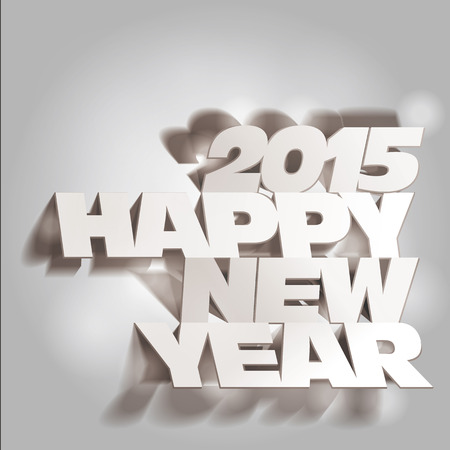 2015: Monochrome Paper Folding with Letter, Happy New Year. Ilustrace