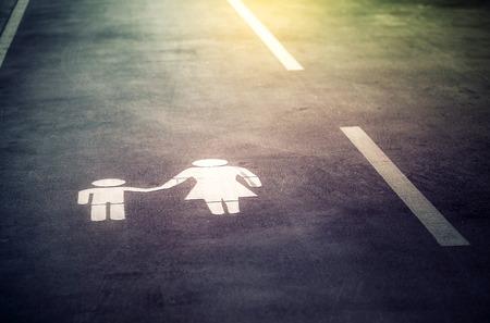 도로에 그린 기호 스톡 콘텐츠