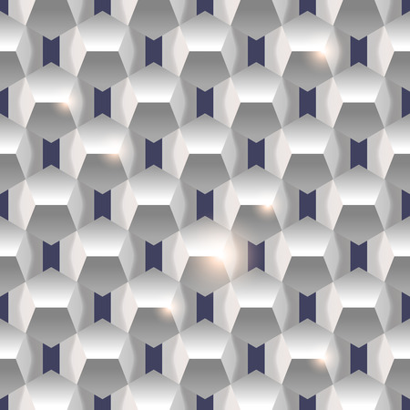 3D paper simple clean seamless geometric white texture background. Vector