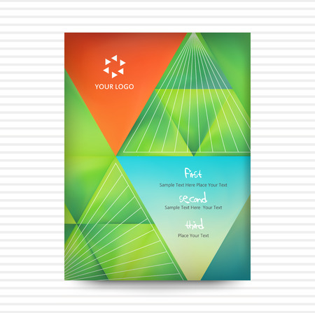 title page: Vector: Abstract Triangle Brochure Book covered Flyer Design Template