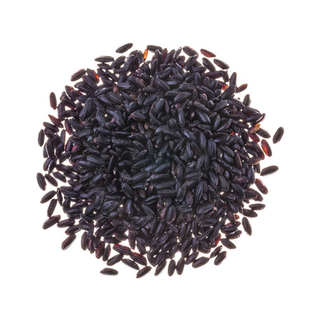 black rice: Black kerneled rice isolated on white