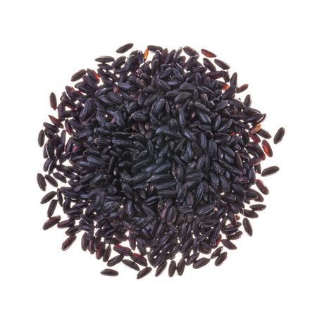 Black kerneled rice isolated on white