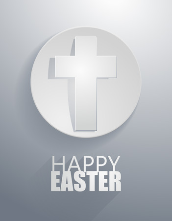 criss cross:  easter gray cross icons with paper cut style