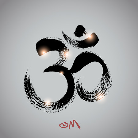 om symbol: Vector: om symbol with brushwork