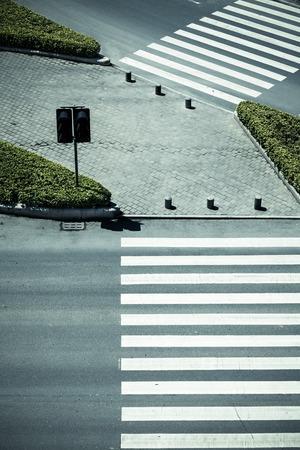 zebra crossing: Zebra crossing by top view