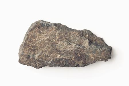 Natural stone isolated on white Archivio Fotografico