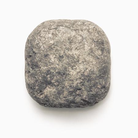 white pebble: Natural stone  isolated on white